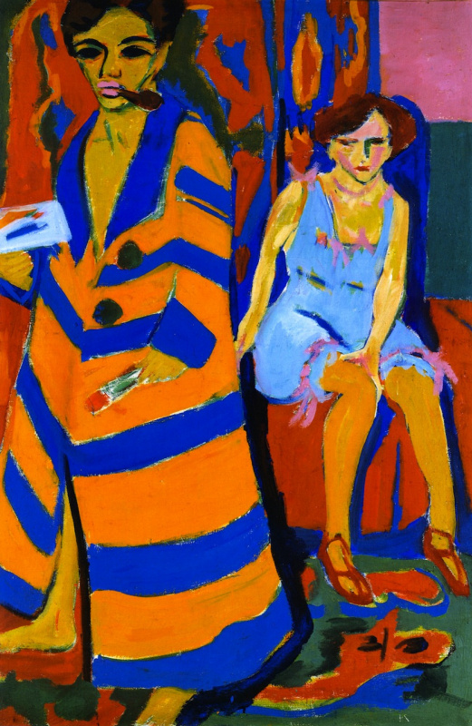 Ernst Ludwig Kirchner. Self-portrait with model