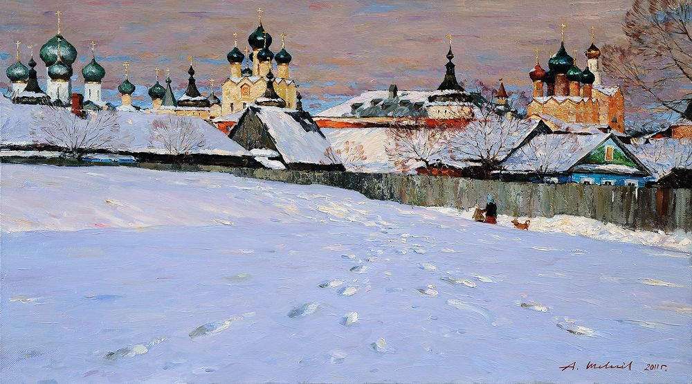 Alexander Shevelyov. Rostov.Podozerka.Oil on canvas 47.5 x 84,5 cm 2011