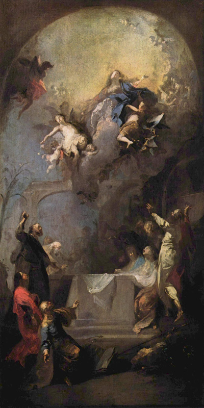 Franz Anton Maulberch. Assumption Of The Virgin Mary