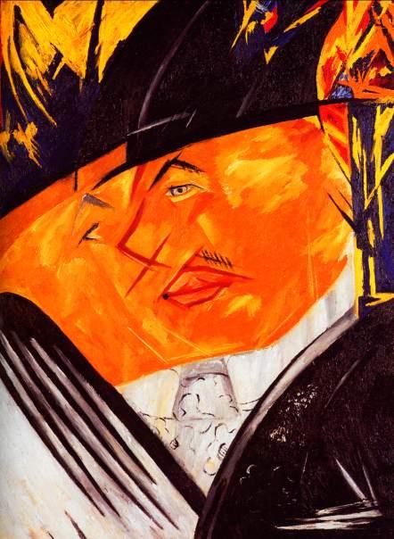 Natalia Goncharova. Portrait Of Larionov