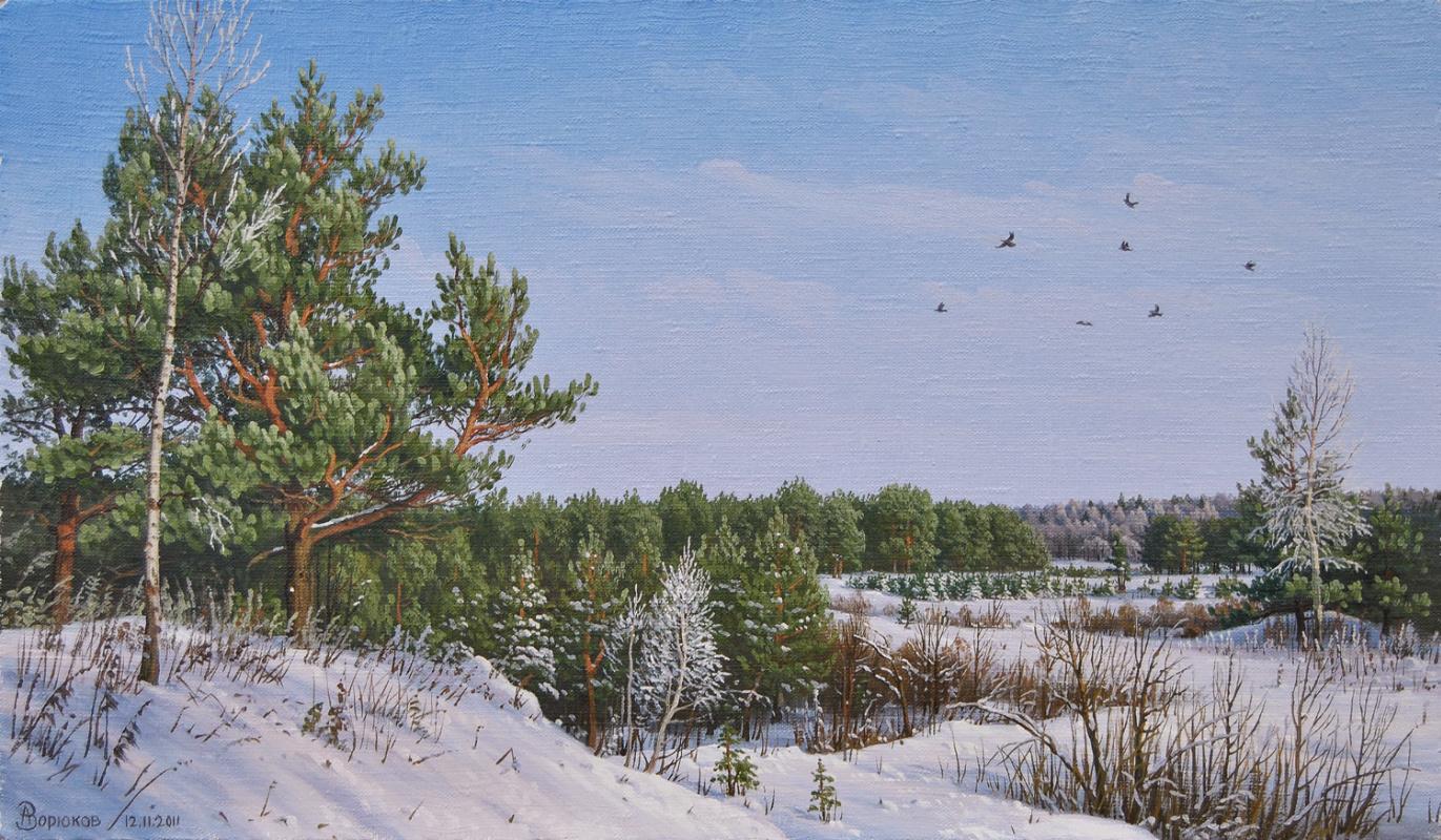 Alexander Vasilyevich Zoryukov. Sunny and frosty