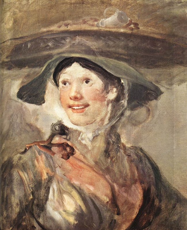 William Hogarth. The girl with the shrimp