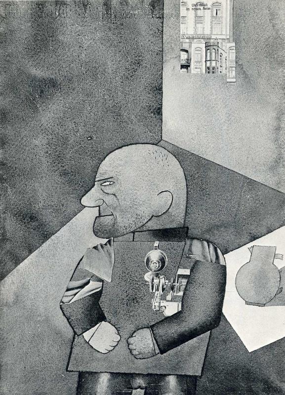 Георг Гросс. Профиль мужчины