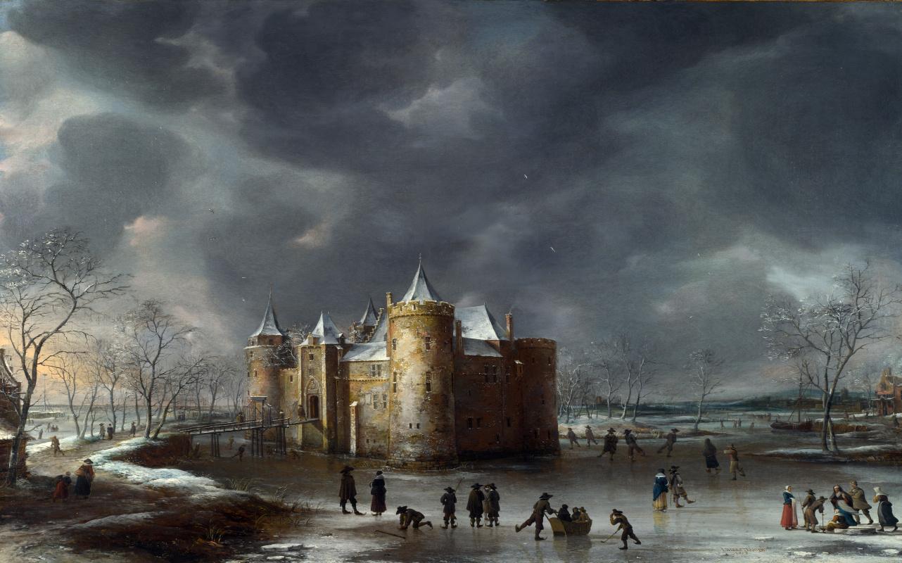 Ян Авраам Беерстратен. Замок зимой