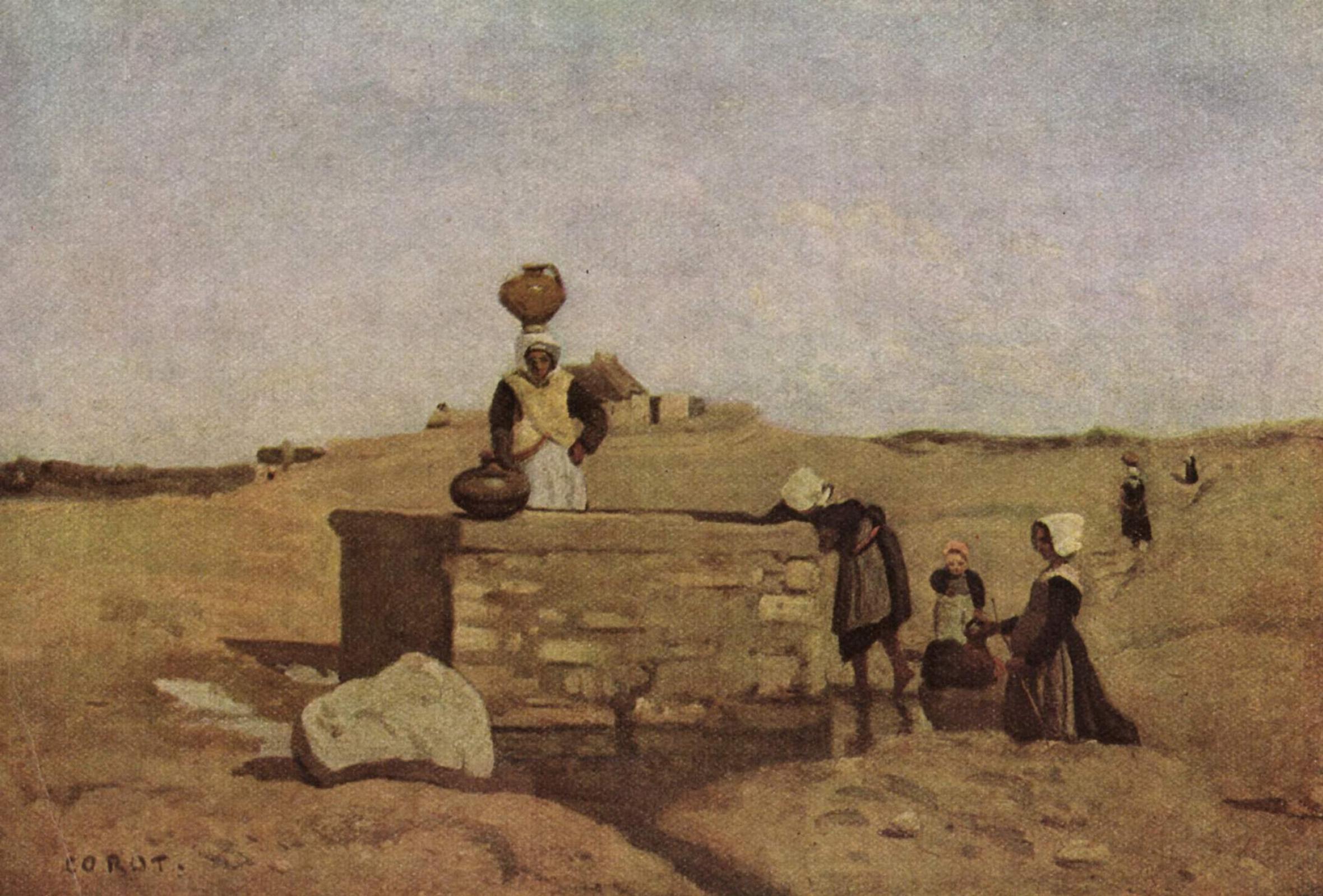 Camille Corot. Bretonas at the well