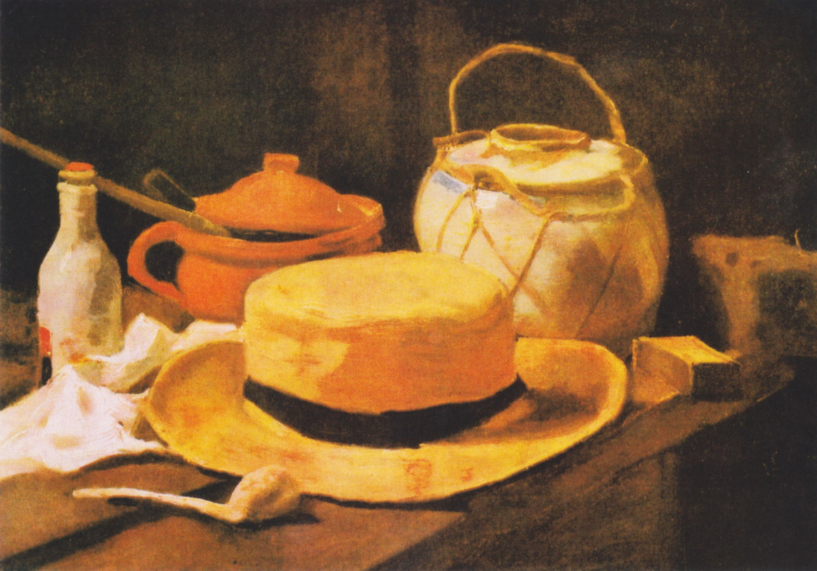 Vincent van Gogh. Still life with straw hat and pipe