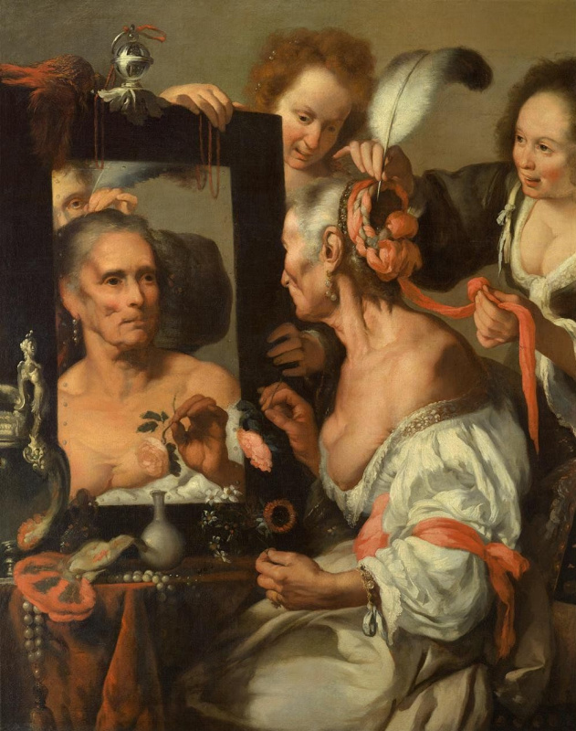 Bernardo Strozzi. Old Flirty
