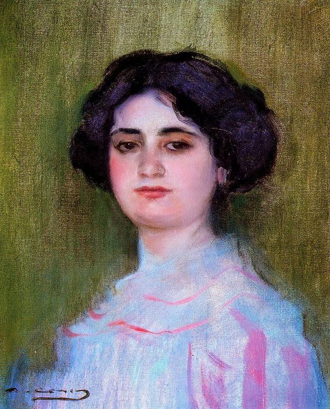 Ramon Casas i Carbó. Portrait of Julia