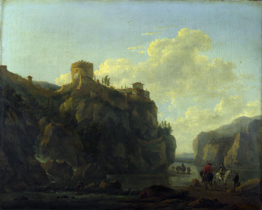Людовик ван Лудик. Река между скалистыми утесами