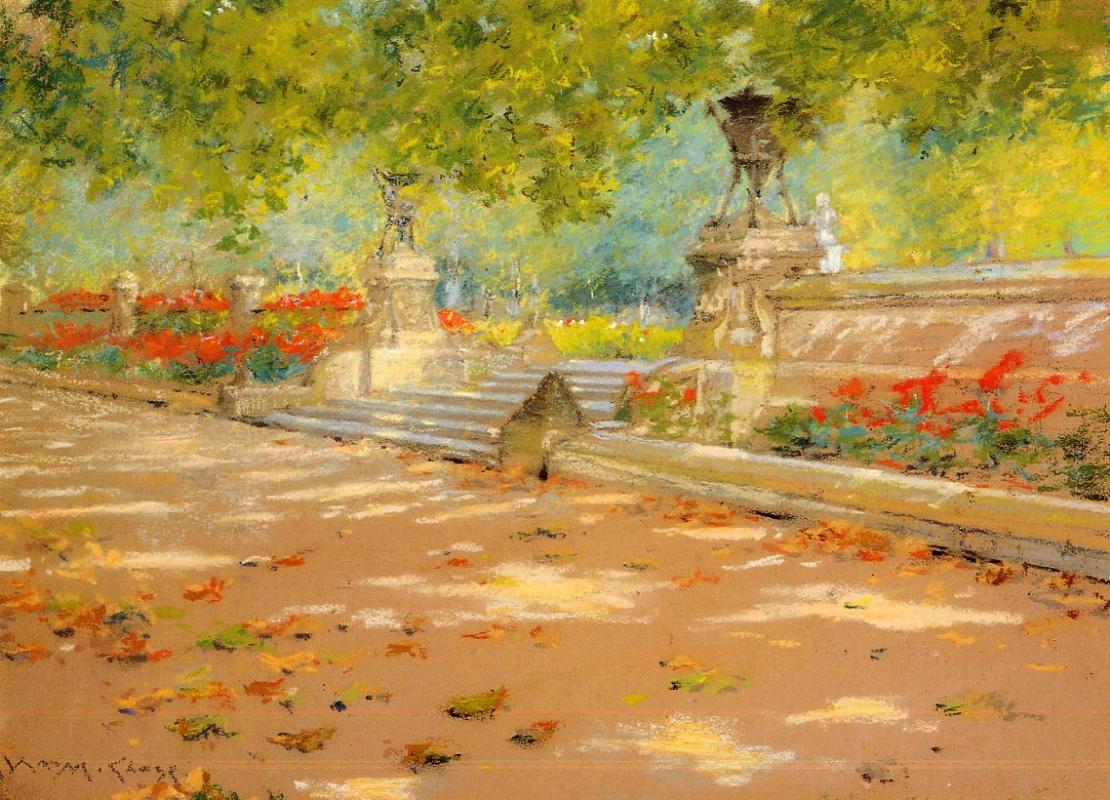 William Merritt Chase. Terrace Prospect Park