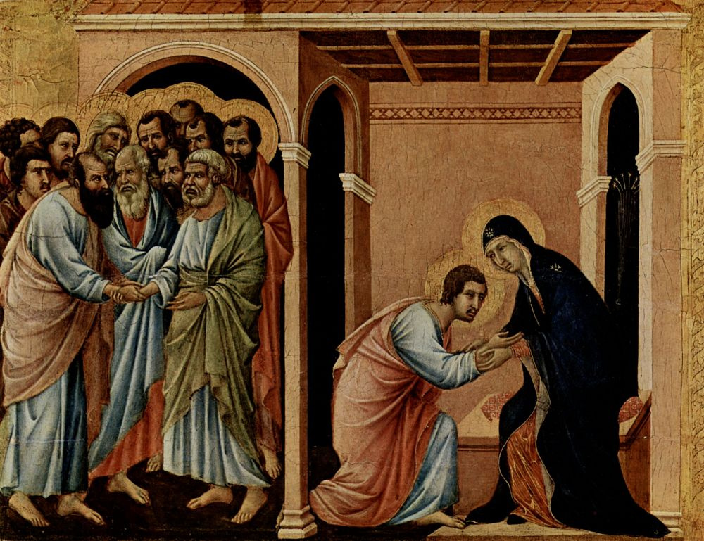 Дуччо ди Буонинсенья. Маэста, алтарь сиенского кафедрального собора, передняя сторона, Алтарь со сценами Успения Марии