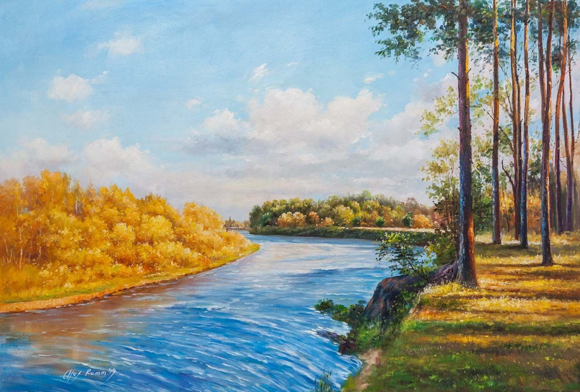 """Alexander Romm. On an autumn day in my native land ... Series """"Beauty of Russia"""""""