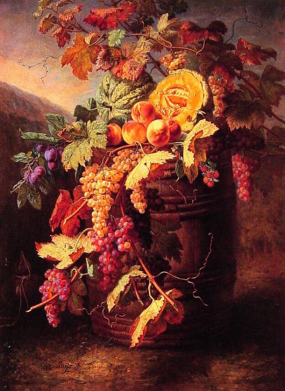 Жан Пьер Бариед. Натюрморт с фруктами