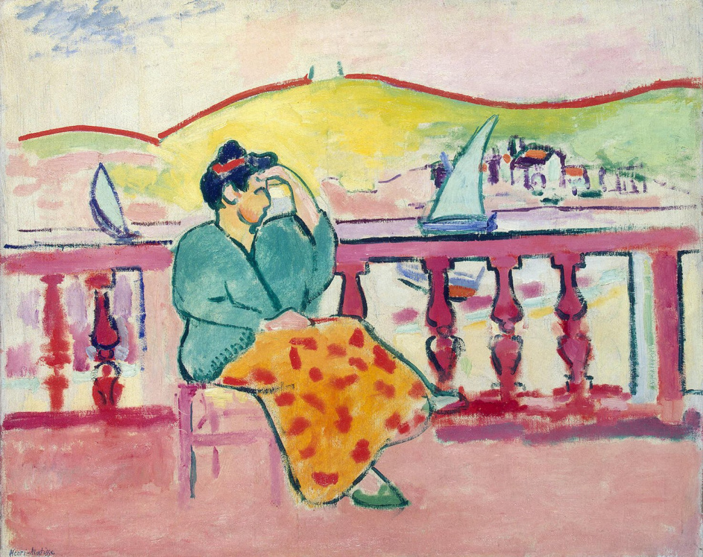 Henri Matisse. The lady on the terrace