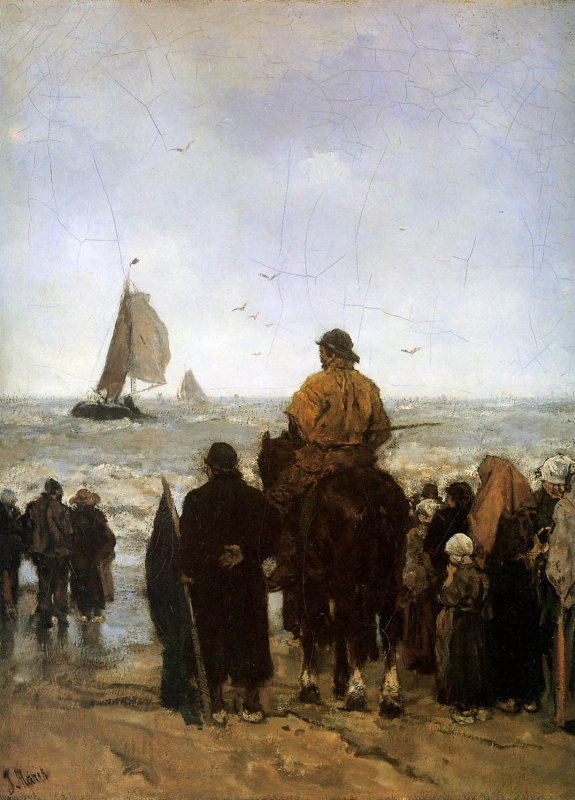 Якоб Хендрик Марис. Прибытие лодки