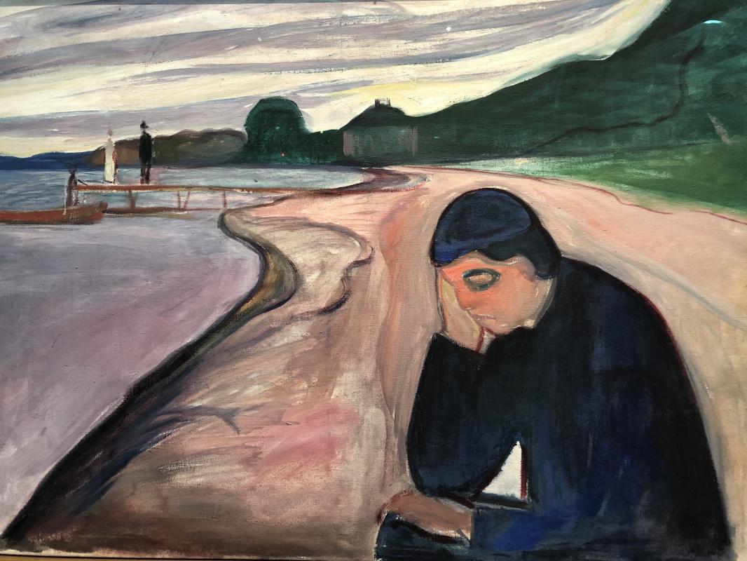 """Vsevolod Shokhin. Edward Munch """"Melancholy"""""""