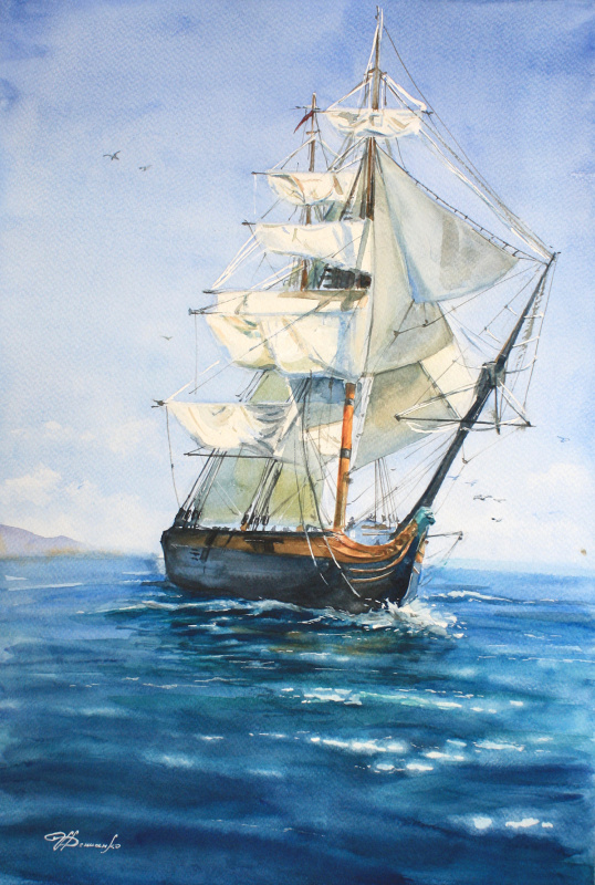 Irina Valerievna Denisenko. Sailboat