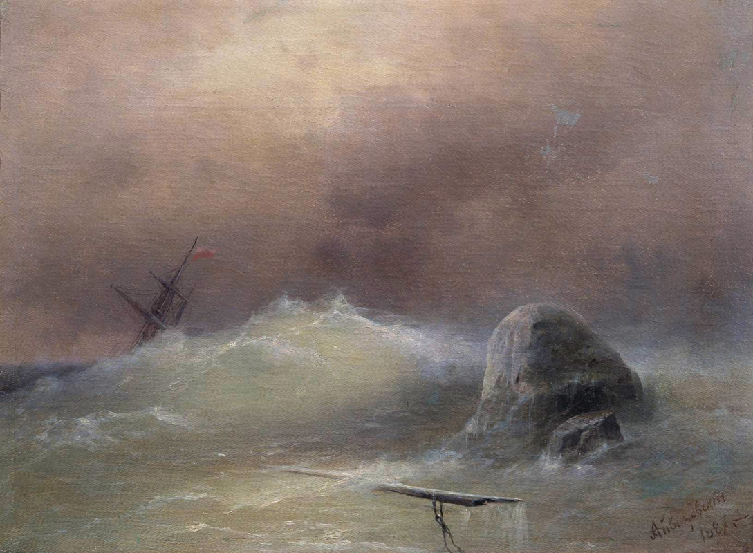 Ivan Aivazovsky. Stormy sea