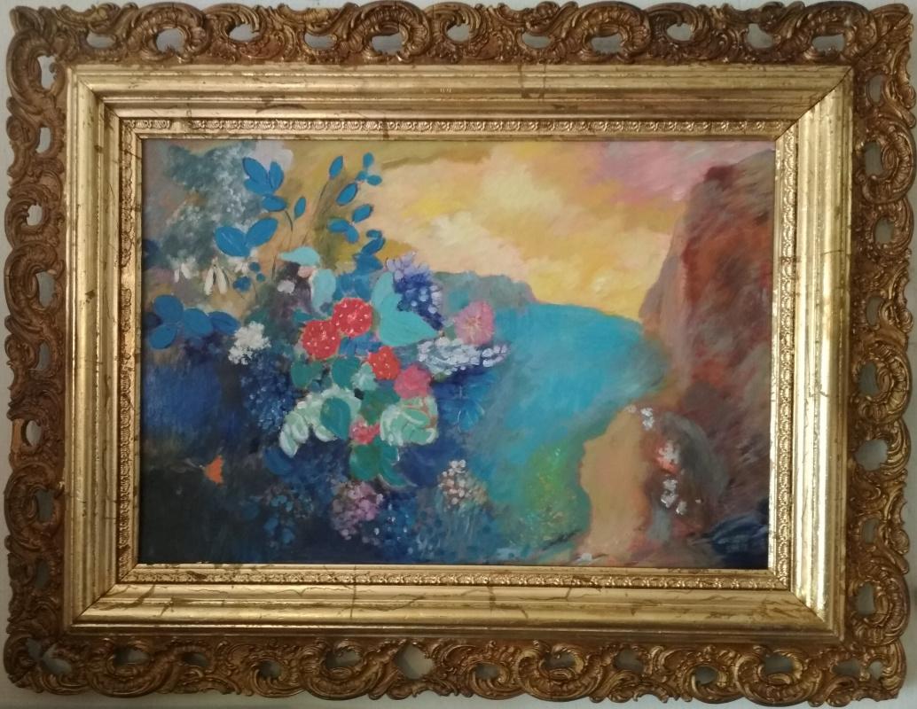 "Odilion Redon. ""Ophelia among the flowers"""
