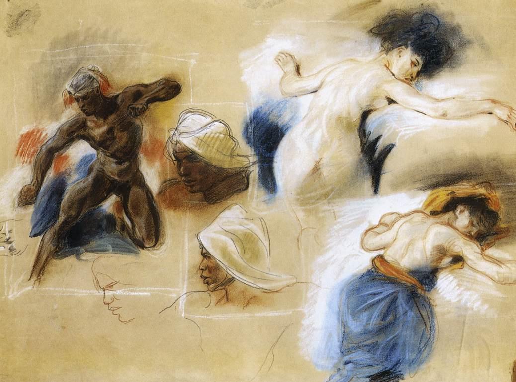 "Eugene Delacroix. Sketch for ""Death of Sardanapalus"""