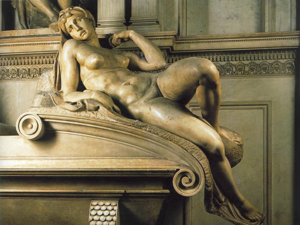Микеланджело Буонарроти. Гробница Лоренцо Медичи. Утро.