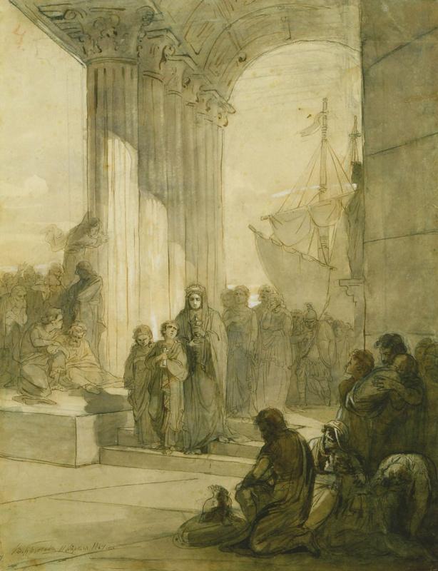Агриппина возвращается в Рим с прахом Германика