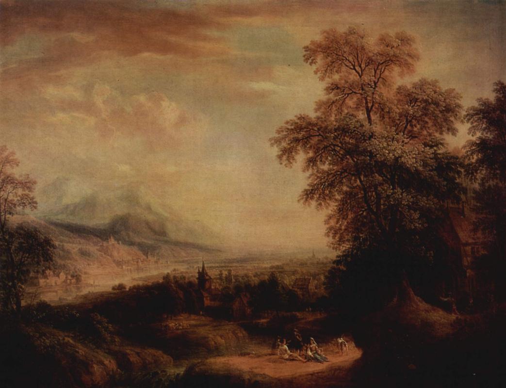 Христиан Георг Шютц Старший. Горный пейзаж