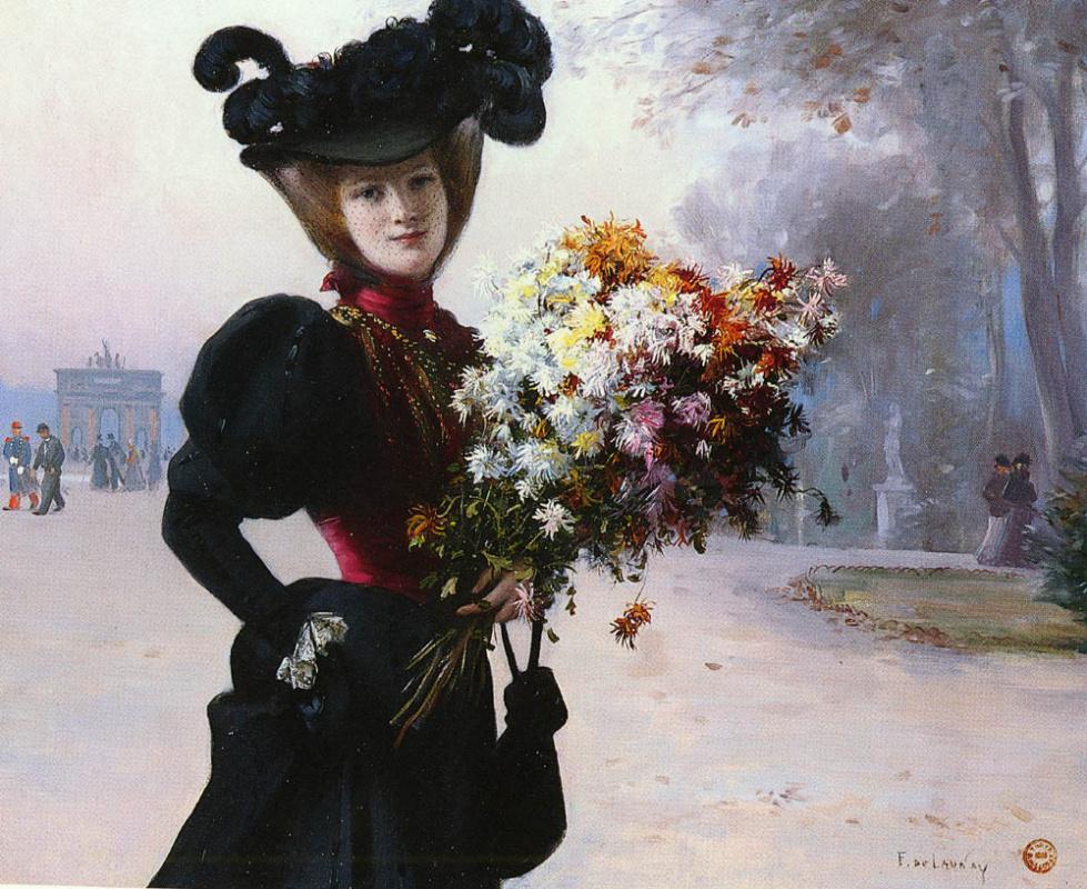 Фернан де Лоне. Женщина в цветнике Тюильри