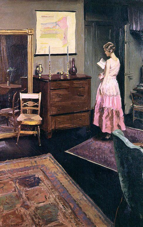 Сидни Дикинсон. Девушка в розовом читает