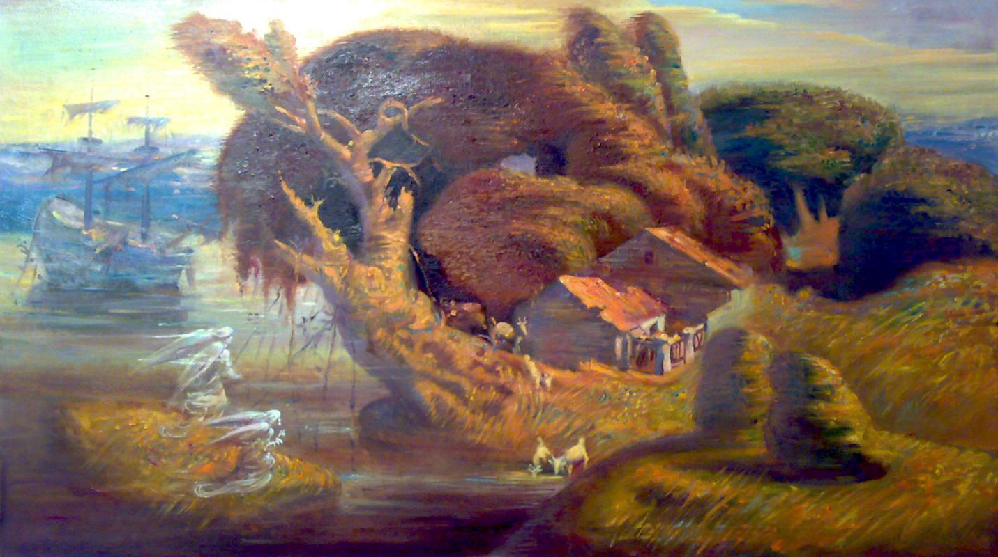 Daniil Litvinov. Пейзаж с ангелами