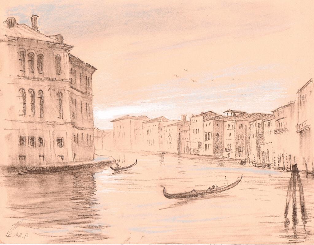 Andrey Noarov. Venice .The Grand canal.