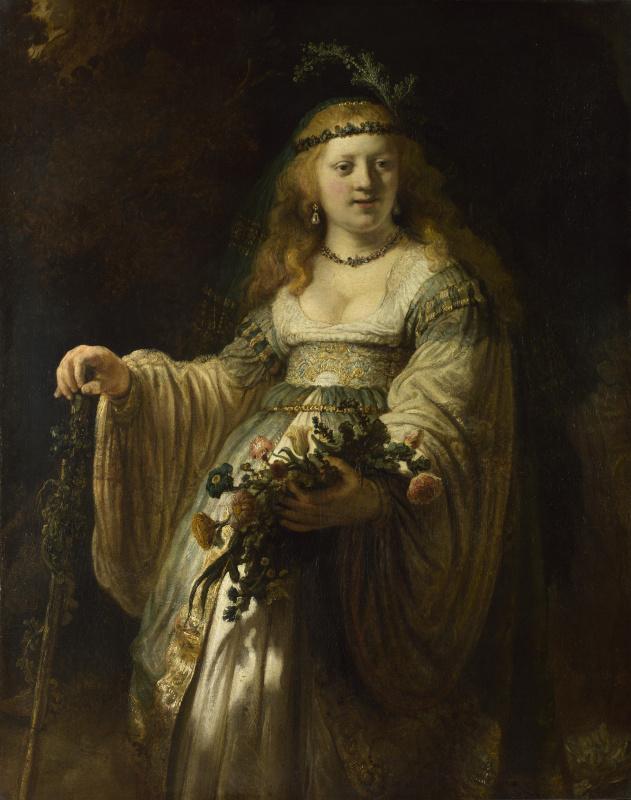 Рембрандт Харменс ван Рейн. Портрет Саскии в аркадийском костюме