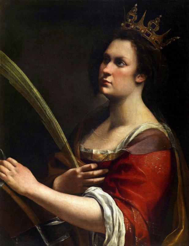 Artemisia Gentileschi. Saint Catherine of Alexandria