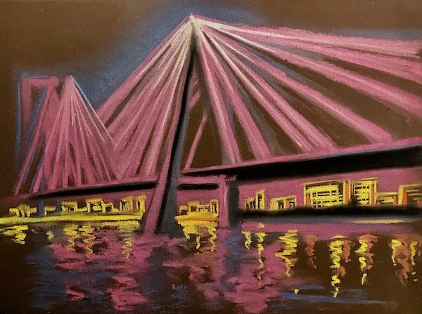 Larissa Lukaneva. Bridge. Illuminations. Sketch.