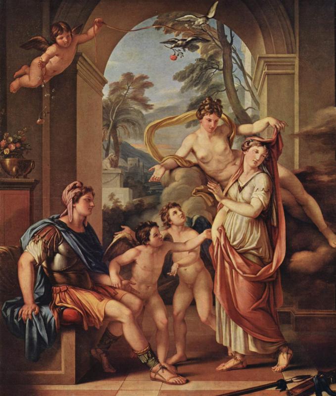 Гейвин Хамилтон. Венера обещает Парису дать в жены Елену