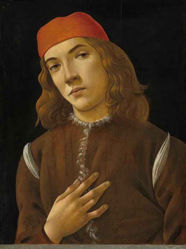 Сандро Боттичелли. Портрет молодого человека