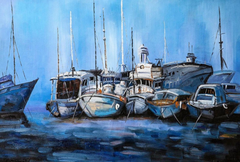 Brian dupre. Boats. Blue tone