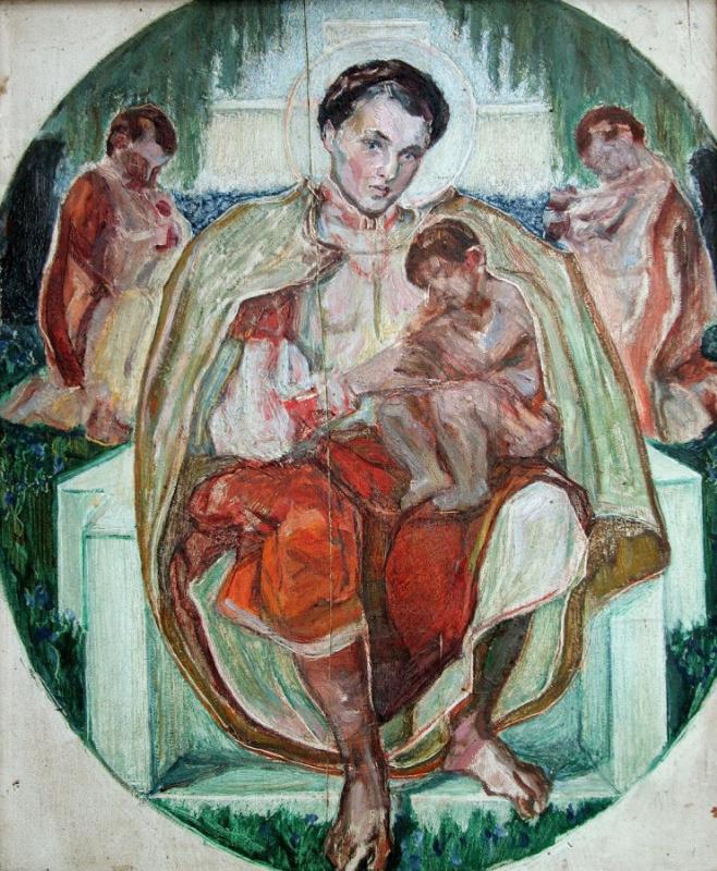 "Sketch for the eponymous poem of Taras Shevchenko's ""Maria"""