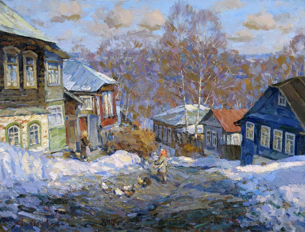 Alexander Shevelyov. Ples. Spring. Oil on canvas, 46,5 x 60,5 cm 2017