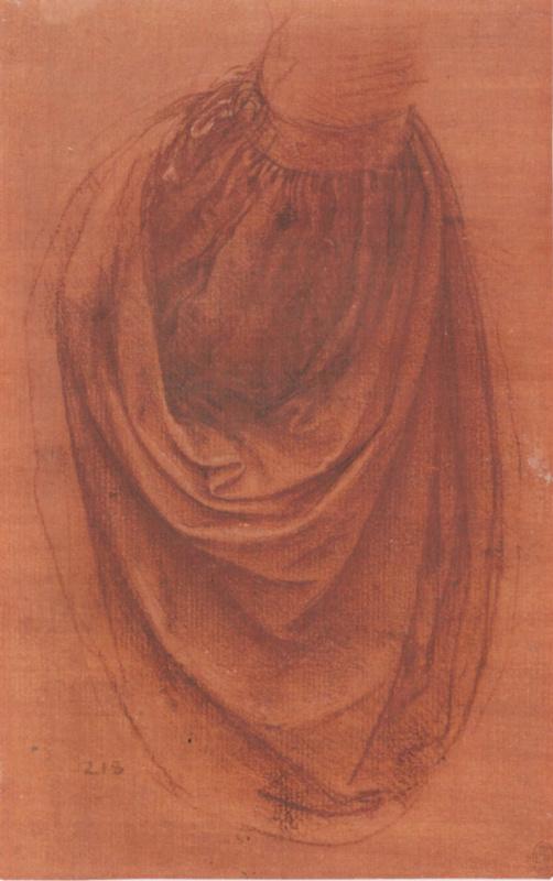 Леонардо да Винчи. Набросок драпировки
