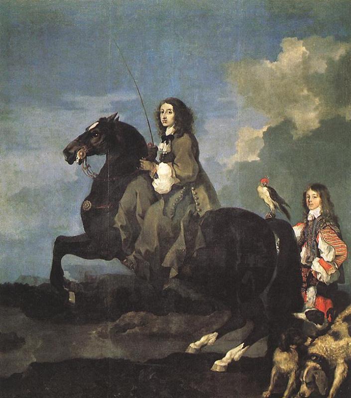 Себастьян Бурдон. Всадник на черном коне