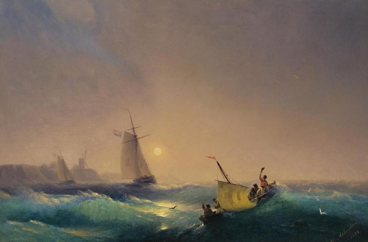 Ivan Aivazovsky. Sail from the Dutch coast