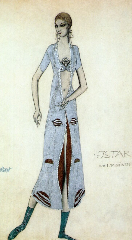Lev Samoilovich Bakst (Leon Bakst). Ida Rubinstein as Ishtar