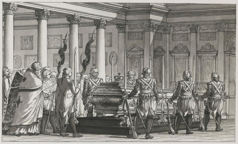 Giacomo Quarenghi. Burial of emperor paul i