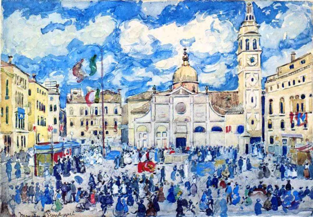 Maurice Braziel Prendergast. Santa Maria Formosa, Venice