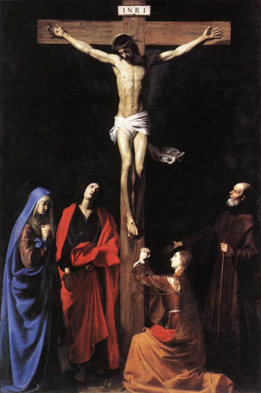 Никола Турнье. Распятие на кресте