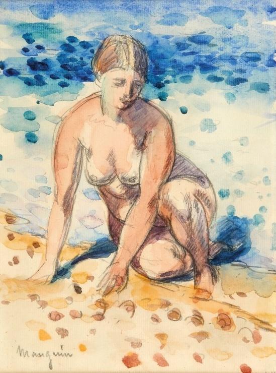 Henri Manguin. Nude on the seashore