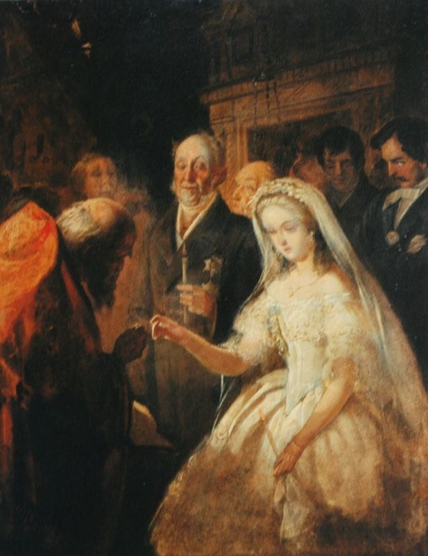 Vasily Vladimirovich Pukirev. The unequal marriage. A sketch of the same picture