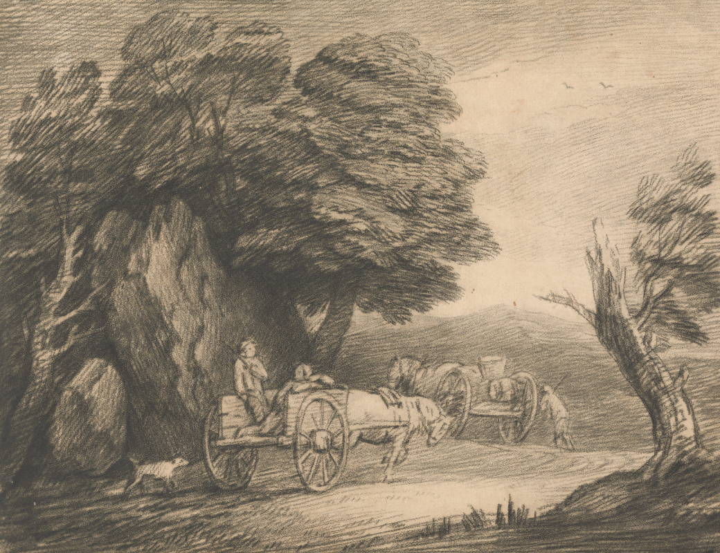Thomas Gainsborough. Landscape with two peasant carts