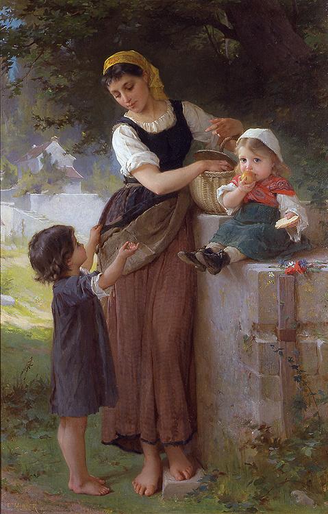 Эмиль Мюнье. Женщина с двумя детьми